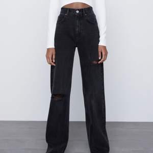 Säljer dessa jeans från Zara fast utan hål🤩 Buda!