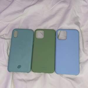 Säljer tre skal, ett till iPhone X och två till iPhone 11 pro. 100 kronor per skal. Köpare står för frakt.