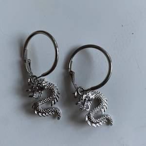 Jättecoola örhängen i silver! Perfekt till festliga tillställningar😎Aldrig använda💜
