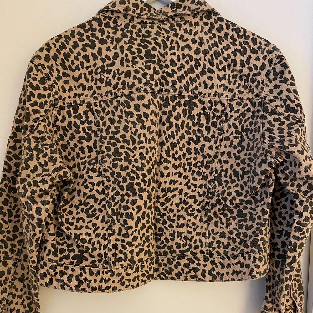 Jättesnygg jacka med leo-print inköpt på Gina tricot. Använd endast en gång. Storlek S, men passar från XS-M.. Jackor.