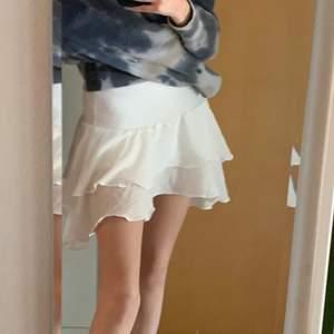 INTRESSEKOLL: på denna söta volangkjol perfekt nu till sommaren! Är i storlek S men skulle säga att den även bör passa M och då den är väldigt stretschig! Buda i kommentarerna🌸😊