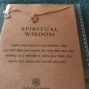 """Guld pläterat Halsband med berlock som symboliserar """" spiritual wisdom"""" samt en kort sammanfattning av symbol & spiritual wisdom"""
