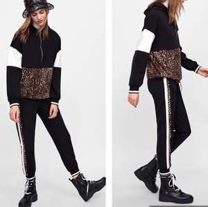 Supersnyggt jogger set från Zara, säljer då det är lite litet för mig🌸 Hoodien har dragsko så man kan ha den tight eller lös, priset kan diskuteras vid snabb affär ⭐️ frakt tillkommer