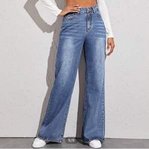 💙Säljer dessa snygga jeans som jag köpt på Shein.⚡️ De är i storlek S men skulle säga att det är liiite stora i storleken. Nypris: 269kr⚡️🤪 har endast provat dem på