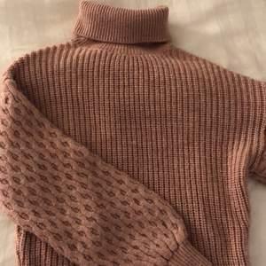 Rosa stickad mysig tröja från Na-kd🌸 passar Xs-S💕 frakt tillkommer