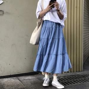 Superfin blå kjol! Endast testad. Onesize. Köparen står för frakten!  Samfraktar gärna!