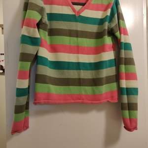 Multi colored striped top