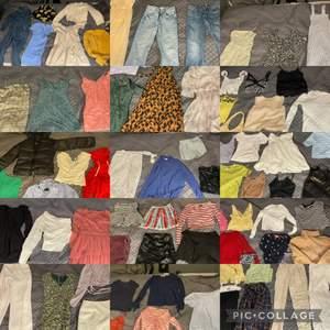 Har rensat ut min garderob. Storlek S/M. Vissa av kläderna är aldrig använda och vissa av kläderna har jag använt några gånger. Köparen får alltså alla mina kläder för 3000. <3