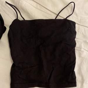 Svart linne från Gina Tricot, väl använt men i bra skick. Lite för kort på mig, blir mer som en magtröja (är 162cm). Nypris 99kr.