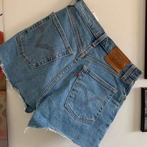 ett par as snygga ribcage shorts från levis som jag aldrig tyvärr använt. köpte de för 549kr och säljer för 250kr. storlek 25 och är i ett jättebra skick!!