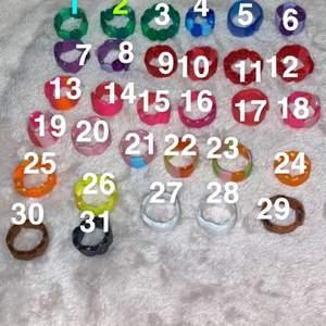 Superfina trendiga ringar, 19kr styck men köper man 4 får man 6kr rea💕