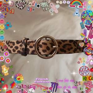 Leopardmönstrat skärp från hm (fake skinn)