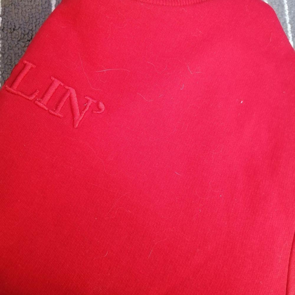 Croppad sweatshirt från H&m köpt ett tag sedan, nästan aldrig använd och i nyskick ✨ Frakt inräknat I priset ✨. Toppar.
