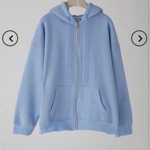 Blå oversize zip-up hoodie från Cider 💙 köparen står för frakten