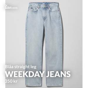 Straight leg jeans från weekday. Säljer för 350kr ink frakt