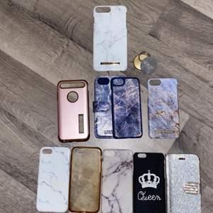 säljer nu mina iphone skal eftersom att jag har en ny mobil, alla iphone 6 skal längst ner kostar 50 kr st, alla iphone 7 skal i mitten kostar 80 kr st (förutom ideal of sweden skalet, den kostar 90 kr) och iphone 8 plus skalet längst upp kostar 100 kr 🎀