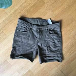 Grönbruna shorts Zara st. 36. Går att ha uppvikta