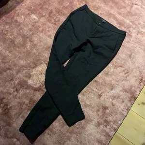 Kostymbyxor, pressveck, låg midja, hel längd