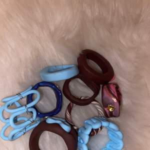 Trendiga ringar gjorda av fimolera:))
