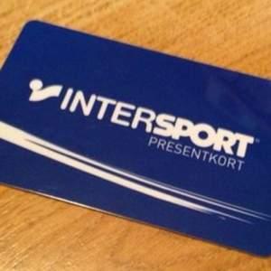 Presentkort från Intersport laddat med 860kr
