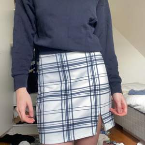 Fin rutig kjol, köpt här på plick men säljer då jag inte tror att jag kommer använda. Aldrig använd av mig, fint skick! Storlek M men passar mig som normalt har S-M