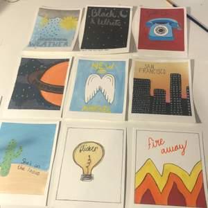 Några målningar jag har gjort inspirerade av Niall Horan låtar från hans album Heartbreak weather och flicker.