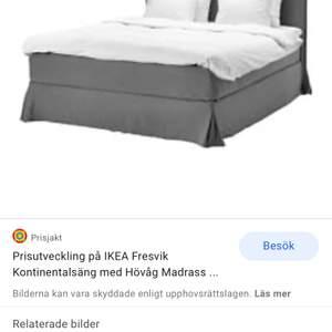 Köpte en av de sista exemplaren av denna sängklädsel från Ikea men tyvärr kommer det inte till användning då vi köpte en annan säng. Klädseln passar på Ikeas sängar (160x200). Fin grå färg. Oöppnad kartong och som sagt en av de sista exemplaren.