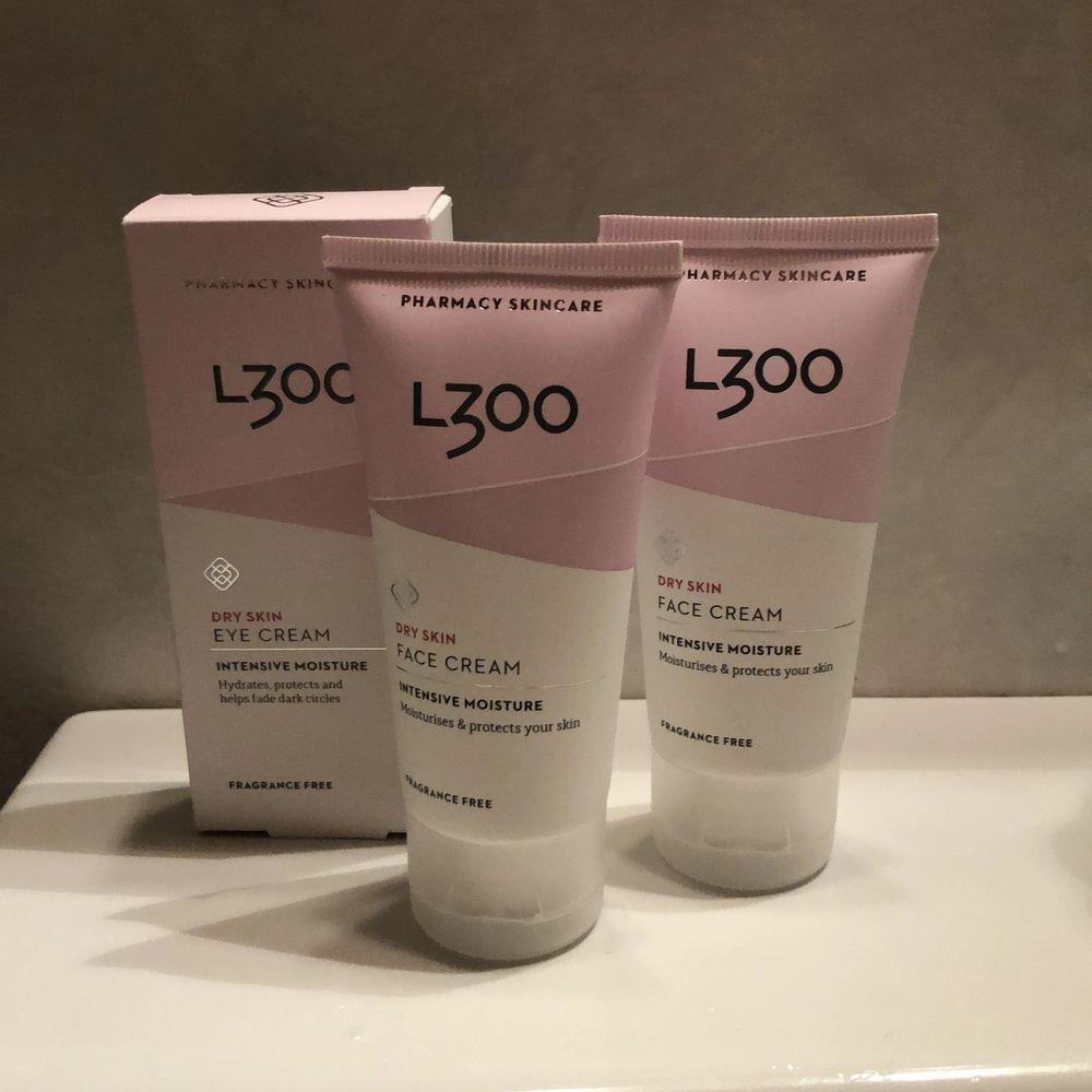 Nya produkter från L300. Två dry skin face cream intense moisture och en dry skin eye cream intense moisture. Ny, obrutna förpackningar. Nypris ca 160kr.. Övrigt.
