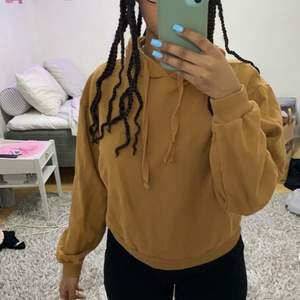 En brun-ish hoodie ifrån na-kd. Bra passform 💞💞