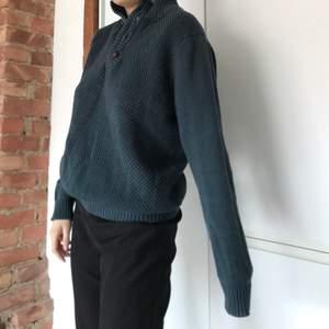 Jättemysig och varm tröja, grönblå, buda från 100kr