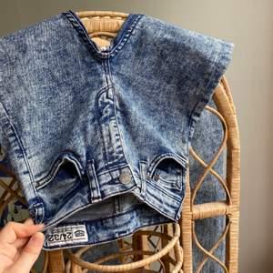 """Asballa tie dye jeans i märket Crocker. Hööög midja och tighta, modell """"POW 2nd SKIN""""✨Sitter som en S M Ä C K"""