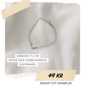 Armband med stjärna i silverfärg ✨ Justerbar storlek. Endast detta exemplaret! Frakt 11 kr. Fler modeller på insta: moon.jwlry 🌙