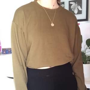 En jättefin tröja från hm, i en lite brungröna färg. Är i strlk S. Priset går att diskutera. Kommer från ett djur och rökfritt hem. Tvättas i oåarfymerad tvätt innan den skickas, om så önskas. Priset är exlusive frakt. Kan mötas upp i Järfälla. Fint skick:)