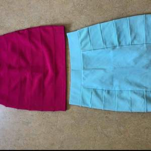 Midjekjolar från H&M Rosa strl 34 Blå strl 36  30 kr styck eller 50 kr för båda