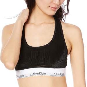 Calvin Klein soft bra in velvety black fabric, size XS. Never used, great condition! Price new 399 SEK.