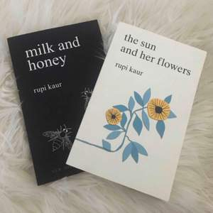 milk and honey: 120kr 🖤 the sun and her flowers: såld! frakt: 42kr // i bra skick