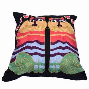"""Cushion cover   New item   Size 17""""x17"""" 100% cotton embroidered  Closure: Zipper Shape: Square  Hand  Washed  Price is 80kr /each pair  150kr  2 item  50kr 📦✈️ from Bangkok registermail"""