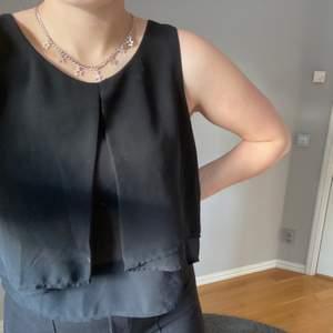 Säljer en svart blus som inte används. Den är i storlek S och säljs för 50kr+frakt