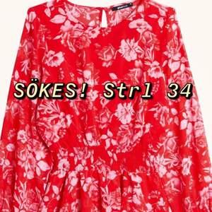 Söker den här klänningen från Gina Tricot i storlek 34