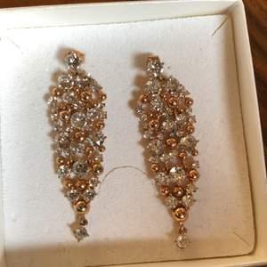 Örhänge från Lily and rose. Blå stenar med rose. Aldrig använda och limited edition som inte görs längre.