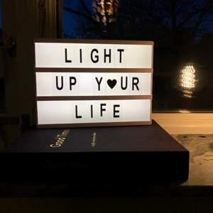 Lightbox, alla bokstäver finns kvar