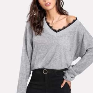 En helt ny fin grå tröja från shein.