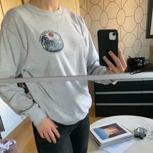 Snygg Brandy Melville tröja som jag säljer då den inte kommer till användning längre. Använd men i bra skick. Skön tröja som passar oversized på mig som vanligtvis har strl S.