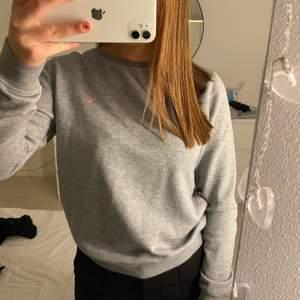 En jättefin grå sweatshirt från gant som aldrig kommer till användning längre. Bra skick och jätteskön verkligen. Köparen står för frakten💞💞storlek 164 men sitter som en XS/S