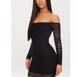 Super fin klänning med prislappen kvar och aldrig använd! den är mesh matriall och passar 36-38💛❤️