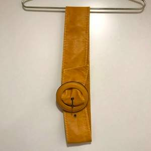 Skinnbälte 85 cm , senapsgul