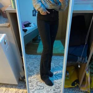 Jätte fina och sköna jeans från Vera moda! Jeansen är oanvända och i fint skick.💕 Vet inte riktigt vilken storlek jeansen är i men passar bra på mig som har storlek 34! Materialet är Stretchigt. Säljer för att det inte är min stil längre! (: