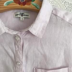 Rosa linneskjorta utan ärmar! Storlek 40. 50 kr + frakt