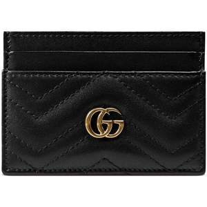 Gucci inspired card holders, closest to the original. In black and red.