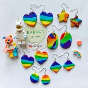I firandet av Pride Month 🌈 Jag har gjort några polymerleraörhängen med RAINBOW-färg ❤️🧡💛💚💙💜 för att visa stöd 🙌🏻 65kr inklusive frakt ❤️